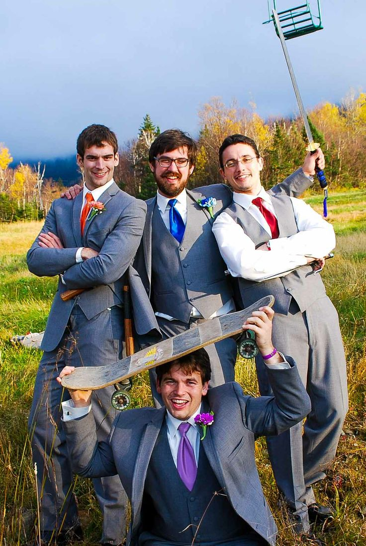 Ninja turtle wedding with groomsmen posed as Ninja turtles! (Fortier Photography)