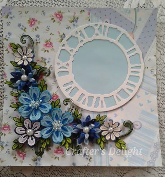 Clock - Quilled by: Crafter's Delight