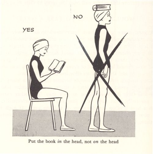 put the book in the head, not on the head