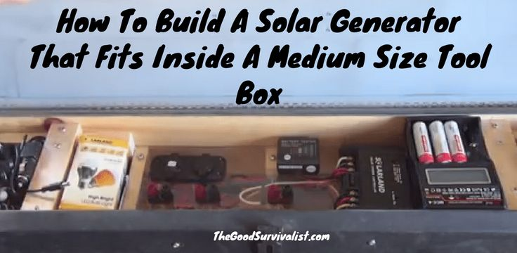 In this video you'll see how to make one of these handy solar generators. You don't need to be living off grid to use one of these solar power generators.