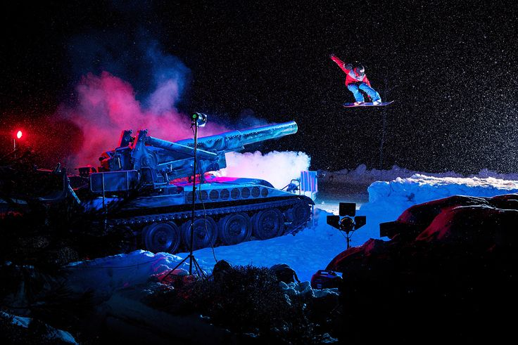 Night snowboard photo shoot - Ko Bon-ryul / Manchul Kim / Korea