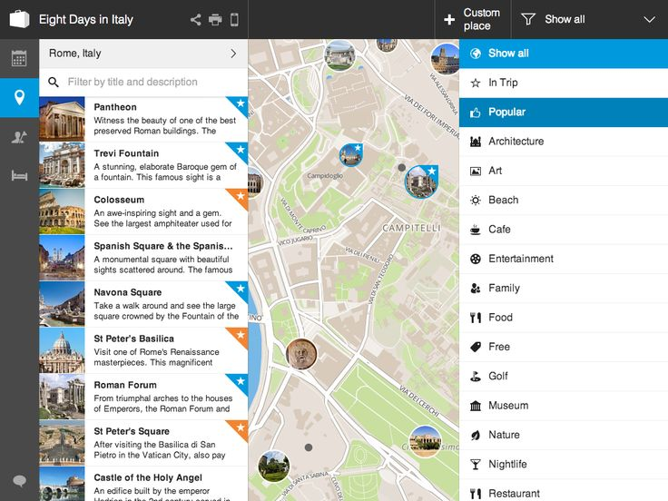 See only the activities you care about on the map by using filters.
