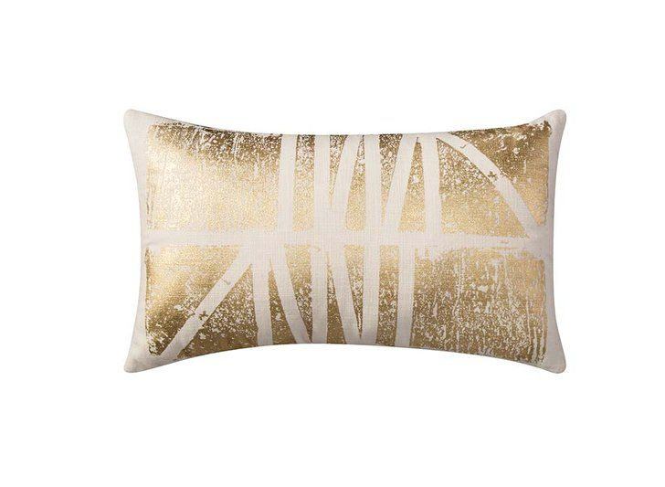 Room Essentials Gold Print Lumbar Pillow ($17). | 21 Affordable Pieces From Target to Make Your Dorm Room Cooler Than the Rest | POPSUGAR Home