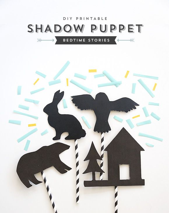 DIY Bedtime Story Shadow Puppets #printable #kids