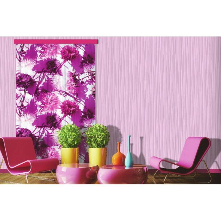 Lila virágos függöny #függöny #virág #lakberendezés