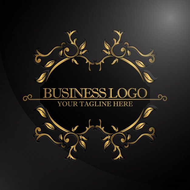 Luxury Logo with gold color Premium Vector