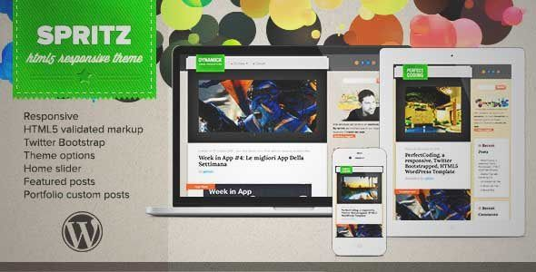 Download and review of Spritz HTML5 Responsive Theme, one of the best Themeforest Magazine & Blogs themes