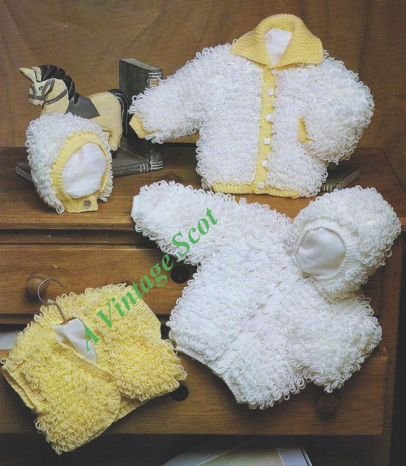Knitting Pattern For Child's Loopy Cardigan