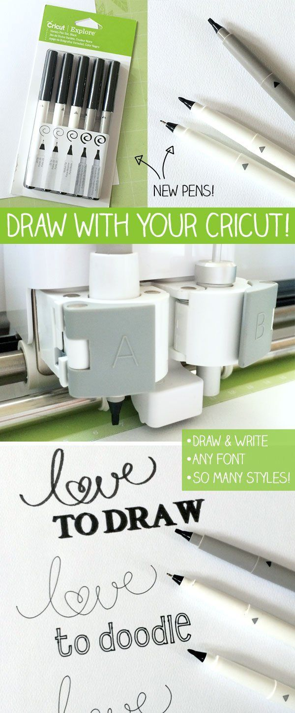 Draw and write with your Cricut Explore - fun ideas, tutorials and information from designer Jen Goode