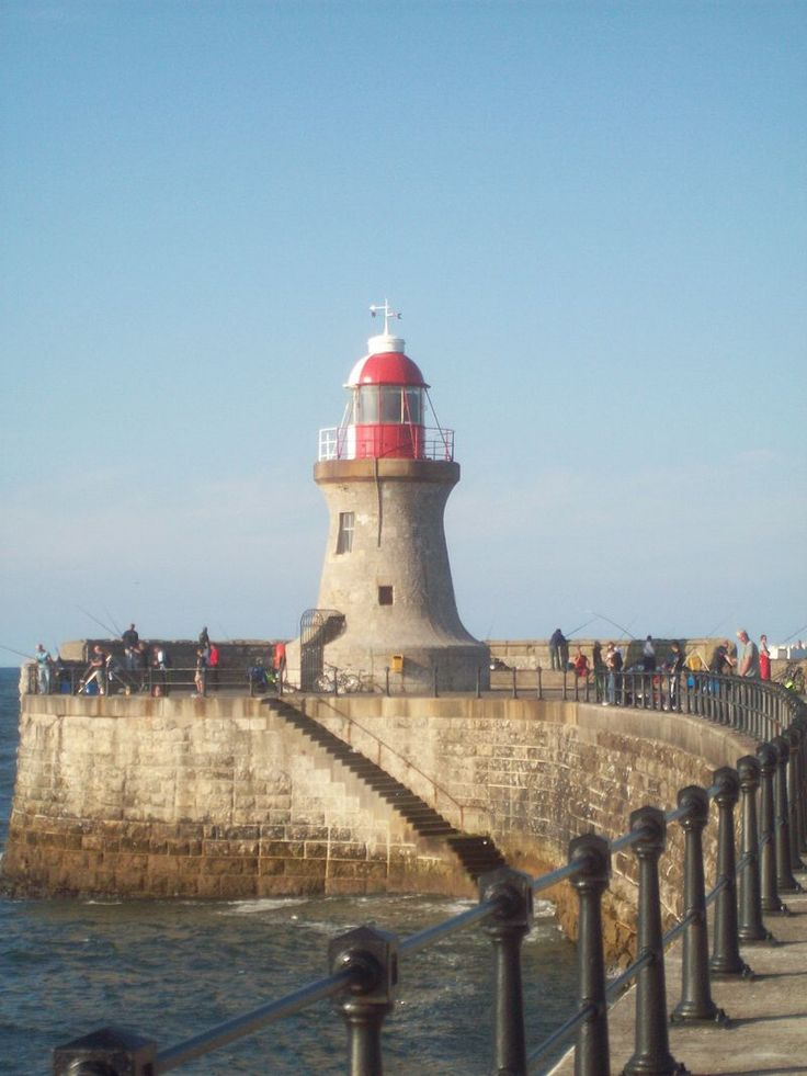 South Shields Lighthouse at the end of the Pier