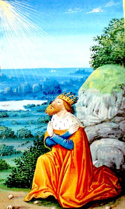 Les Très riches heures Berry Confiance absolue de David en Dieu. Près de Dieu point de crainte. 92