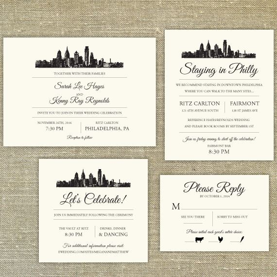 Best 25 philadelphia skyline ideas on pinterest art for Electronic destination wedding invitations
