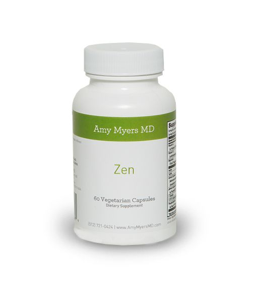 Zen-formulary blend of nutrients designed to support calming brain activity. #sleep #mood #calm #supplements #amymyersmd