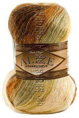 Пряжа ANGORA GOLD SIMLI BATIK Alize - (4334 - Беж, песочный, коричневый)