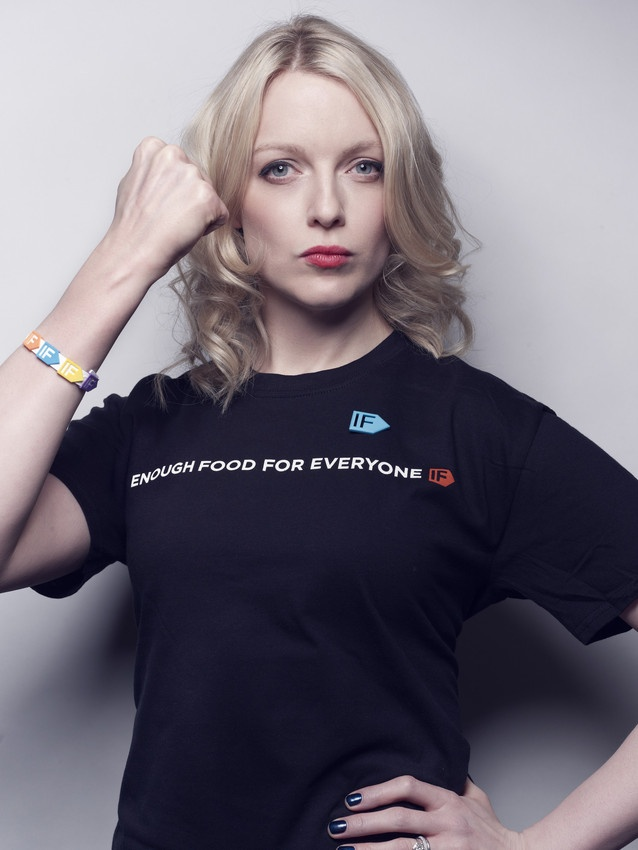 """We can be the generation to end hunger."" Lauren Laverne hosts the campaign launch of Enough Food for Everyone IF"
