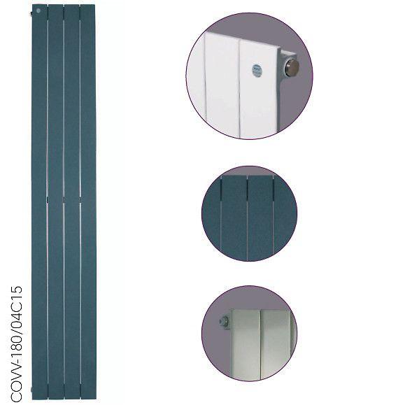 COVER - grzejnik dostępny w wersji poziomej i pionowej - płaska i elegancka budowa.
