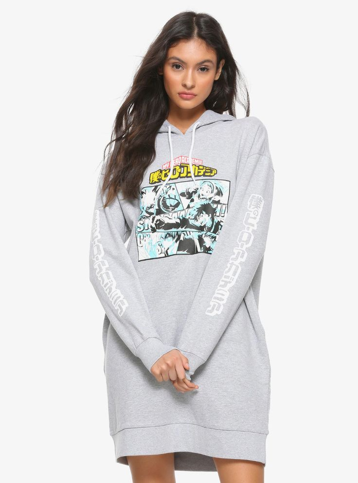 My hero academia grey hoodie dress in 2020 with images