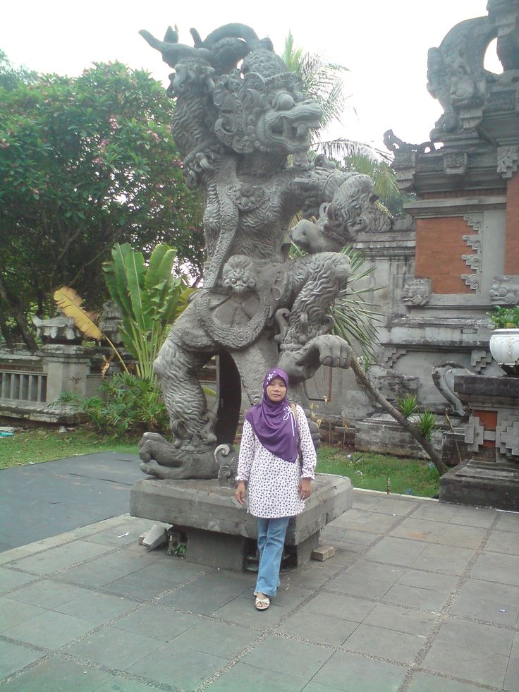 My wife at TMII