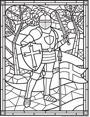Stained Glass Knight