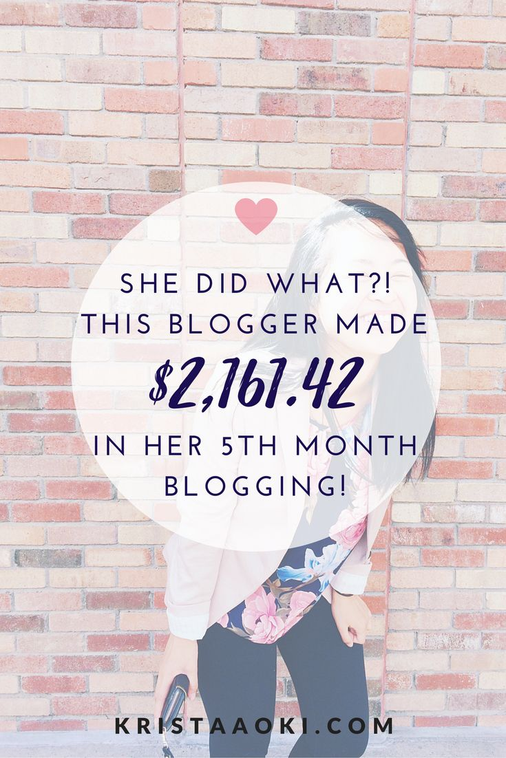 She did what?! Read about how this #GIRLBOSS built her blogging empire and earned over $2,000 in her FIFTH month of blogging. | monthly income report, make money blogging, monetize your blog, blog for business, solopreneur success stories, blogging income report