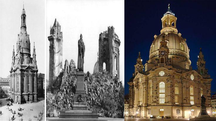 Iglesia de nuestra señora construida en 1743 -Destruida en el bombardeo a Dresde-