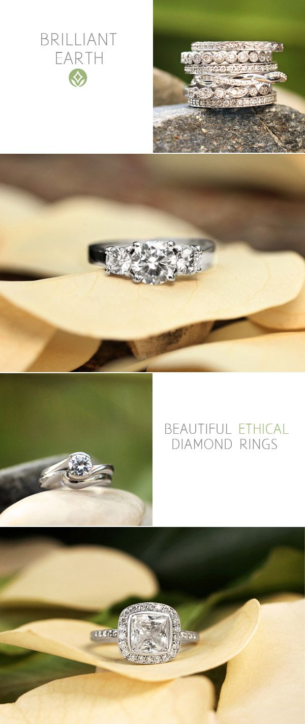 {Just a little bling}- Ethical diamonds from Brilliant Earth via The Sweetest Occasion