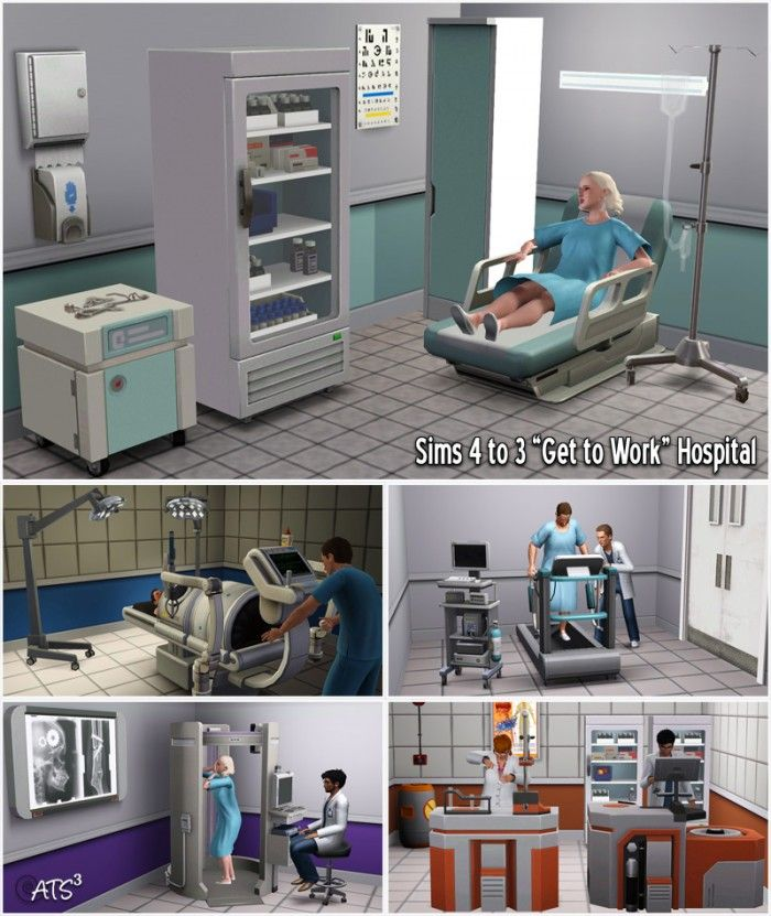Sims 4 to 3 Hospital by Sandy - Sims 3 Downloads CC Caboodle Check more at