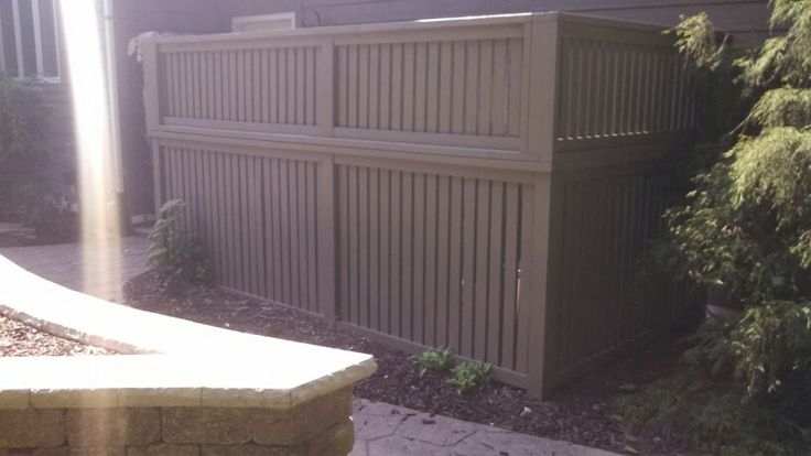 Finished wall, we made the top look like the bottom.  It hides the pool pumps and filters