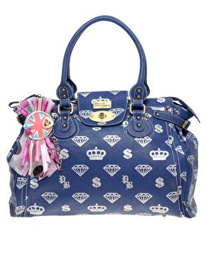 Paul s Boutique Exclusive to ASOS Limited Edition Diamond Large Twister Bag