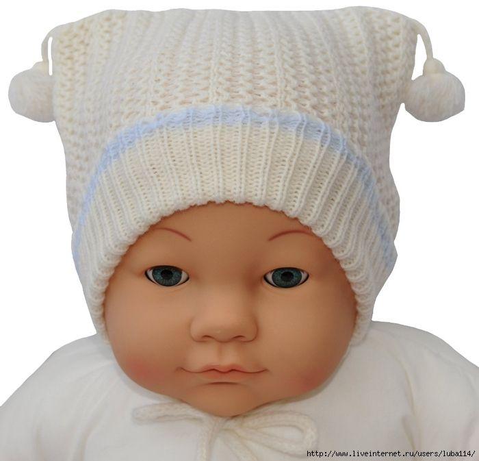 Вязаные шапочки для новорожденных. Обсуждение на LiveInternet - Российский…
