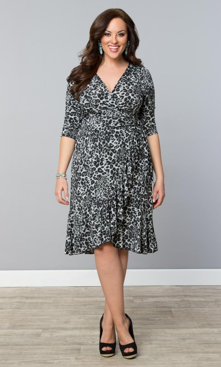 97 best we love animal prints images on pinterest animal prints forget brown go with a chic snow leopard print with our plus size flirty flounce ombrellifo Image collections
