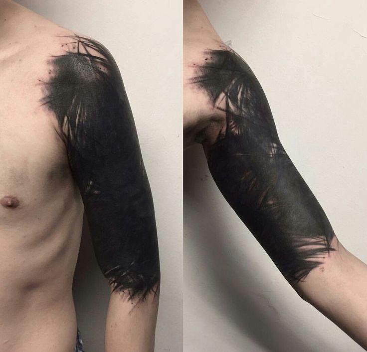 black work tattoo