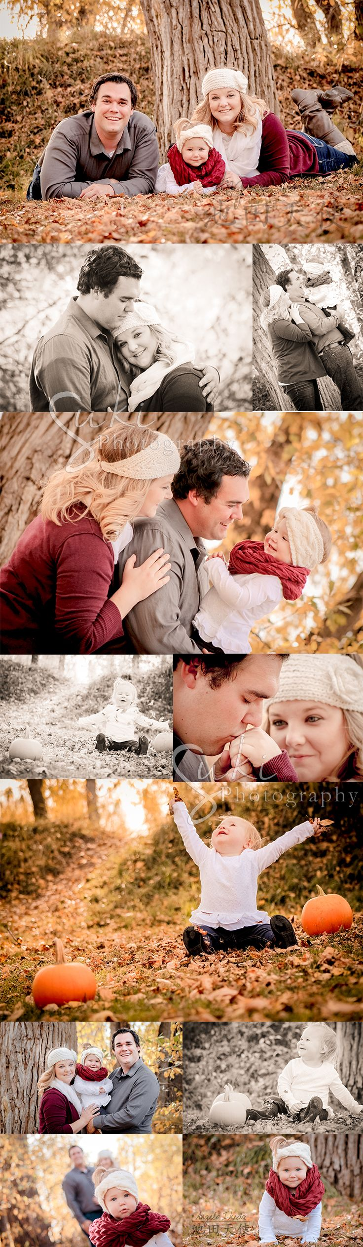 Beautiful fall pictures with Family Doane