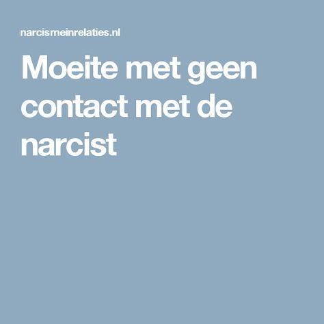 Moeite met geen contact met de narcist