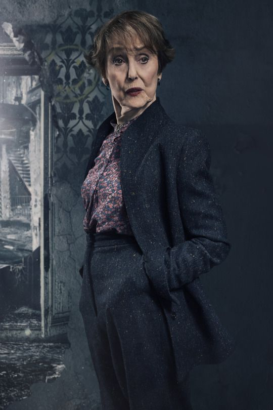 SHERLOCK (BBC) ~ S4 promo photo: Una Stubbs as Mrs. Hudson