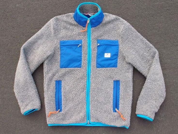 Penfield Pile Fleece Jacket Size L Grey Polar Coat Winter Ski Snow