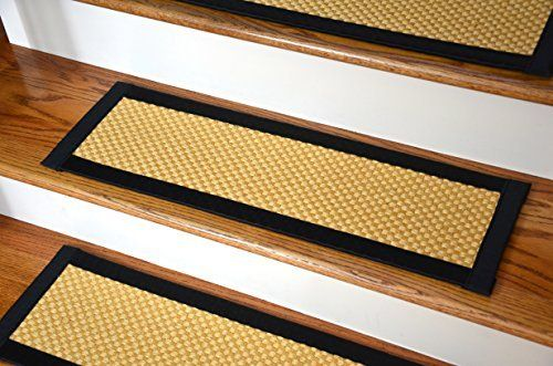 Dean Non-Slip Tape Free Pet Friendly Stair Gripper Natural Fiber Sisal Carpet Stair Treads - Madagascar Basketweave Tropical Gold/Black 29W (15) Price : $264.99 http://www.deanstairtreads.com/Dean-Non-Slip-Friendly-Gripper-Natural/dp/B00PNWYLA0