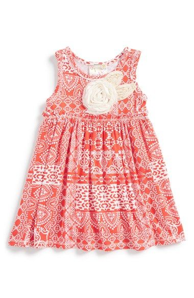 Pink Vanilla Paisley Sleeveless Dress (Baby Girls) available at #Nordstrom