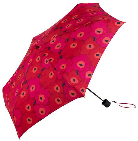 Mini Unikko Mini Manual Umbrella Red/Pink