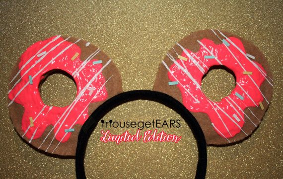 ADORB!!  Limited Edition Doughnut Inspired EARS by MouseGetEars on Etsy