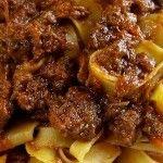 #Pappardelle al #ragù di #cinghiale, la ricetta