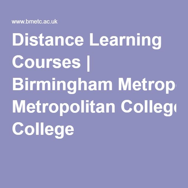 Distance Learning Courses | Birmingham Metropolitan College