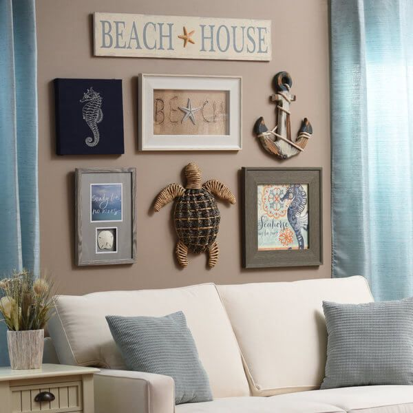 3 Steps to Creating a Gorgeous Gallery Wall. Coastal Wall DecorBeach ...