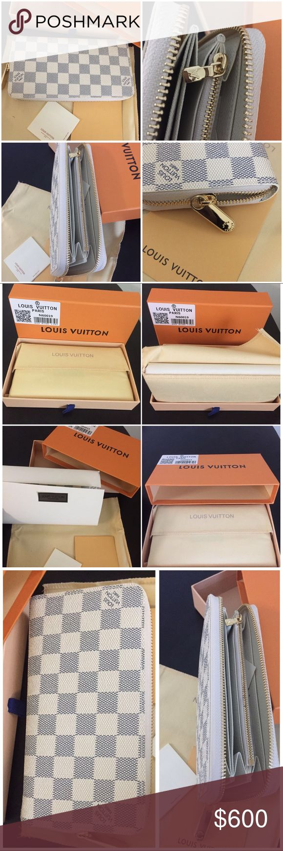 Louis Vuitton Damier Azur Women's wallet Used like new Louis Vuitton Damier Azur Women's wallet comes with box and dust bag Bags Wallets