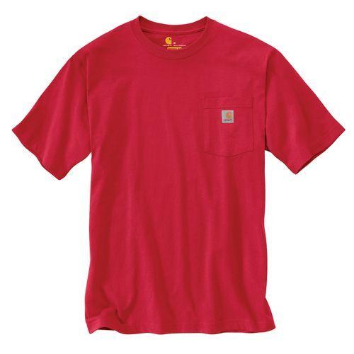 Carhartt Men's Short Sleeve Work Wear Pocket T-shirt (Red, Size Medium) - Men's Work Apparel, Men's Longsleeve Work Shirts at Academy Sports
