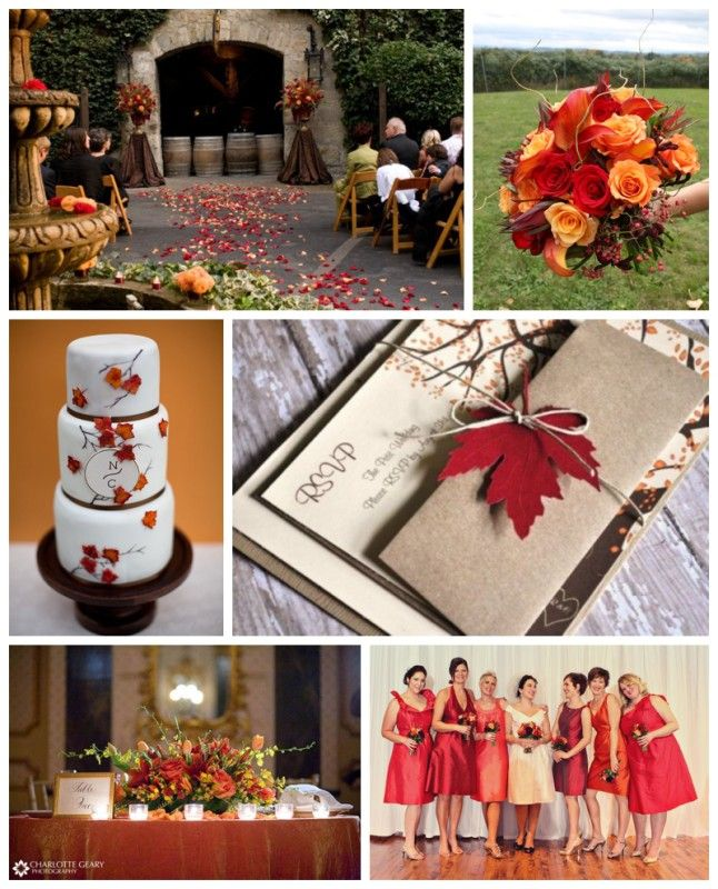 Orange and red fall wedding inspiration