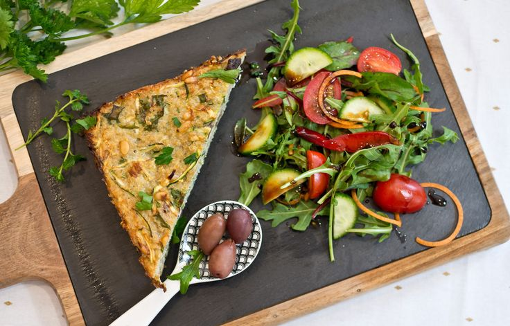 Delicious and healthy frittata made with So Good Unsweetened Almond Milk, Zucchini and Quinoa!