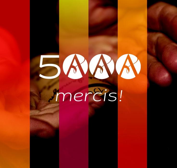Déjà 5000 fans, Merci !  5000 thanks to our facebook fans !   http://www.timelinemoviemaker.com/display/?t=510f8131961f70-74481450