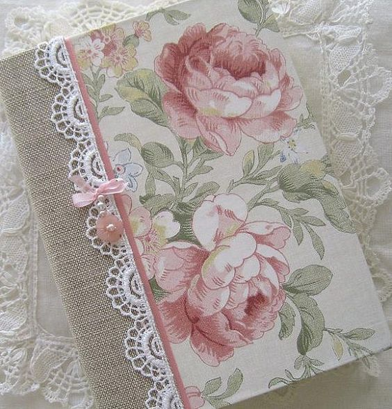 Journal Vintage Roses Upcycled Paper Beaded Cover by Daisyblu, $24.00  #capsteam #wwes Great Gift Idea: