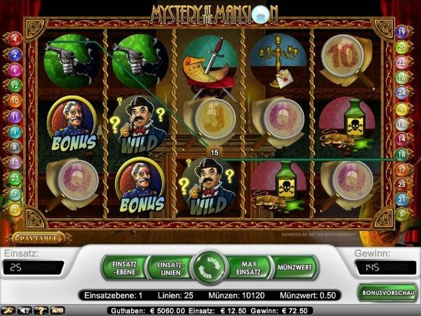 Mystery Mansion im Test (Net Ent) - Casino Bonus Test